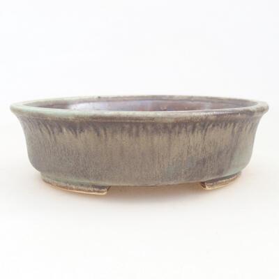 Ceramiczna miska bonsai 12 x 11 x 3 cm, kolor brązowo-zielony - 1