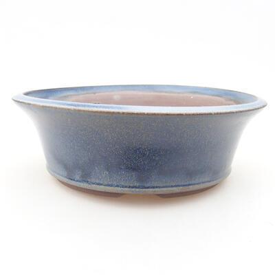 Ceramiczna miska bonsai 17 x 17 x 6 cm, kolor niebieski - 1