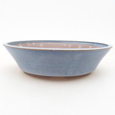 Ceramiczna miska bonsai 18 x 18 x 4,5 cm, kolor niebieski - 1