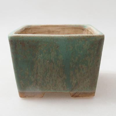 Ceramiczna miska bonsai 8 x 8 x 6 cm, kolor zielony - 1
