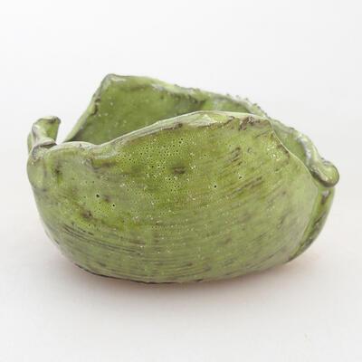 Ceramiczna powłoka 7 x 7 x 5 cm, kolor zielony - 1
