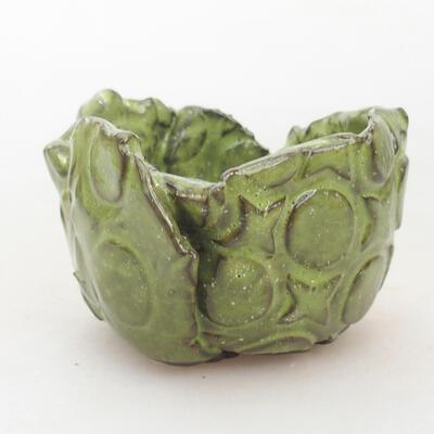 Ceramiczna powłoka 8 x 7 x 5,5 cm, kolor zielony - 1