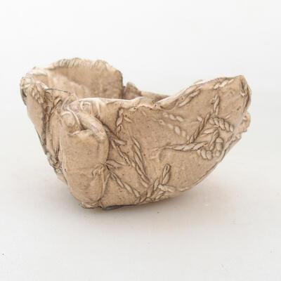 Ceramiczna powłoka 7,5 x 6,5 x 5 cm, kolor beżowy - 1