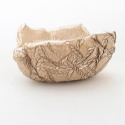 Ceramiczna skorupa 7 x 7 x 4,5 cm, kolor beżowy - 1