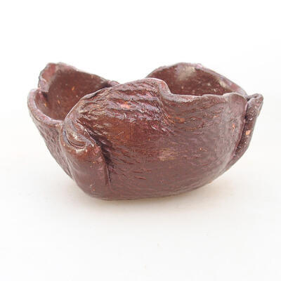 Ceramiczna skorupa 8 x 7,5 x 5 cm, kolor brązowy - 1