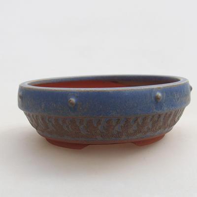 Ceramiczna miska bonsai 15 x 15 x 5 cm, kolor niebieski - 1