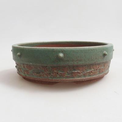 Ceramiczna miska bonsai 17 x 17 x 5,5 cm, kolor brązowy - 1