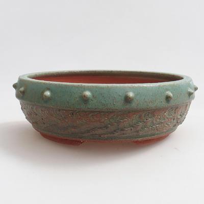 Ceramiczna miska bonsai 19 x 19 x 6 cm, kolor zielony - 1