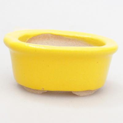 Mini miska bonsai 4,5 x 4 x 2 cm, kolor żółty - 1