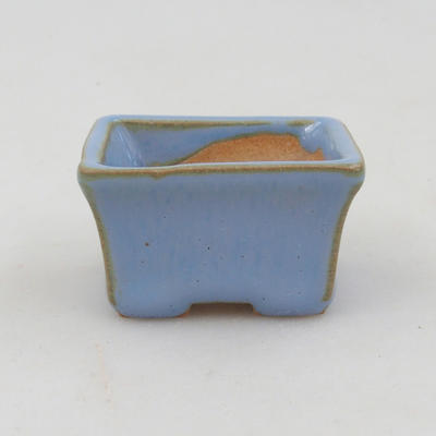 Mini miska bonsai 4 x 3 x 2,5 cm, kolor niebieski - 1