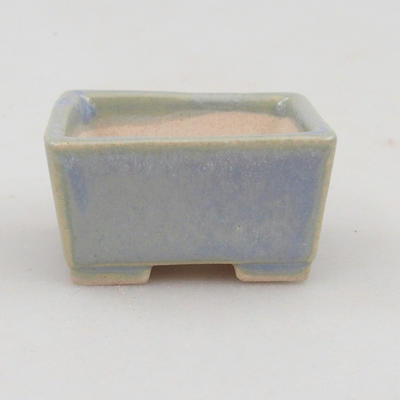Mini miska bonsai 4 x 3,5 x 2 cm, kolor niebieski - 1