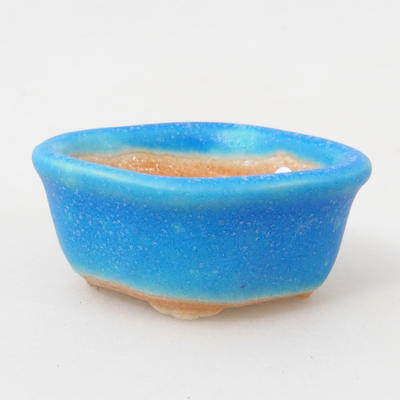 Miska mini bonsai 5 x 4 x 2 cm, kolor niebieski - 1