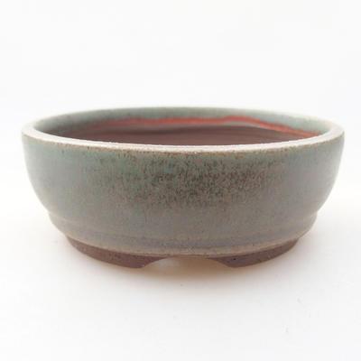 Ceramiczna miska bonsai 9 x 9 x 3 cm, kolor zielony - 1