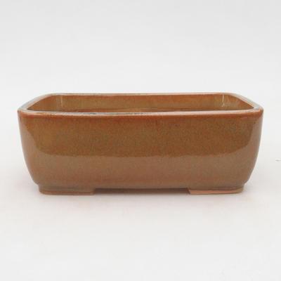 Ceramiczna miska bonsai 16 x 10 x 5,5 cm, kolor szaro-rdzawy - 1