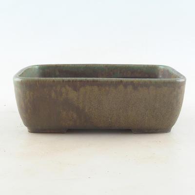 Ceramiczna miska bonsai 16 x 11 x 5,5 cm, kolor brązowo-zielony - 1