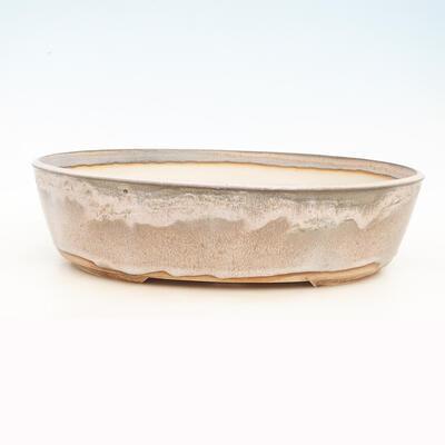 Miska Bonsai 44 x 35 x 11,5 cm, kolor szaro-beżowy - 1