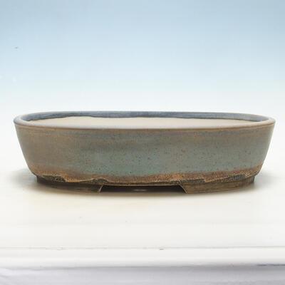 Miska Bonsai 31 x 24 x 8 cm, kolor szaro-beżowy - 1