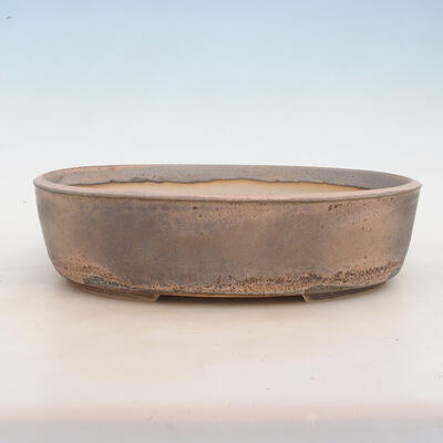Miska Bonsai 32 x 24 x 8,5 cm, kolor szaro-beżowy - 1