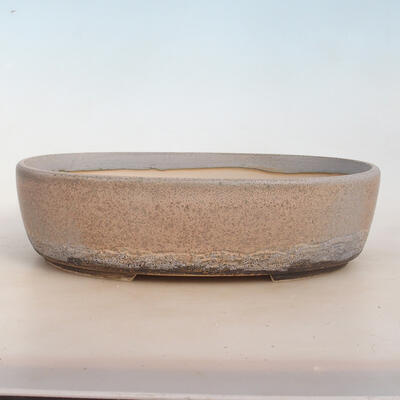 Miska Bonsai 31 x 24 x 8,5 cm, kolor szaro-beżowy - 1