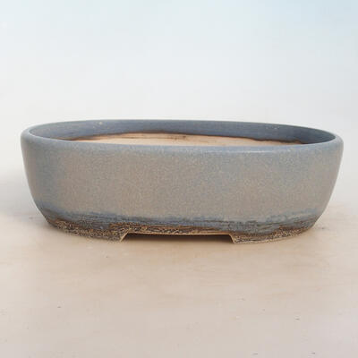 Miska Bonsai 27 x 19,5 x 8 cm, kolor niebiesko-szary - 1