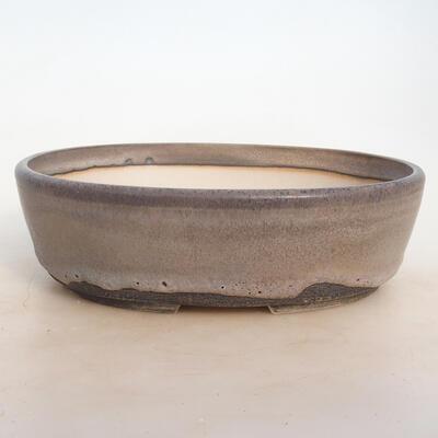 Miska Bonsai 25 x 19,5 x 7,5 cm, kolor szaro-beżowy - 1