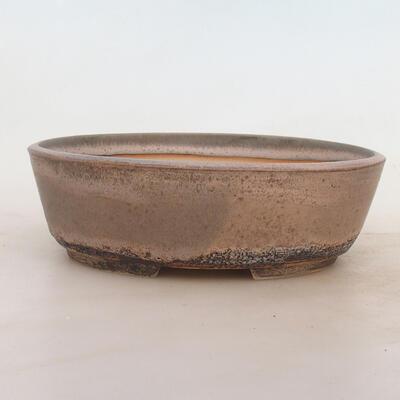 Miska Bonsai 23 x 17 x 7 cm, kolor szaro-beżowy - 1