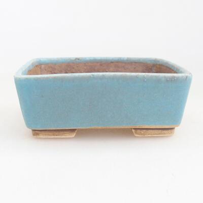 Ceramiczna miska bonsai 9,5 x 8 x 3,5 cm, kolor niebieski - 1