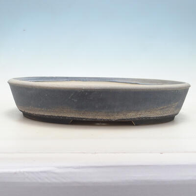 Miska Bonsai 43 x 34 x 8,5 cm, kolor niebiesko-szary - 1