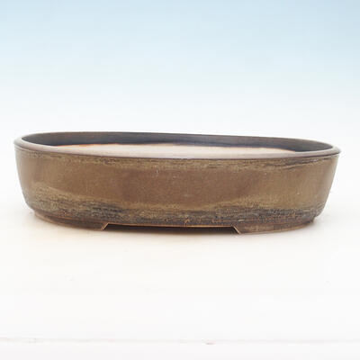 Miska Bonsai 35,5 x 27,5 x 8 cm, kolor brązowy - 1