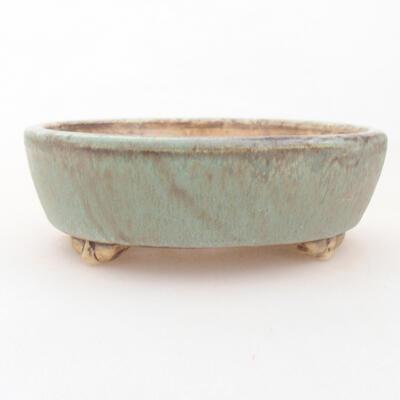 Ceramiczna miska bonsai 12 x 9,5 x 3,5 cm, kolor zielony - 1