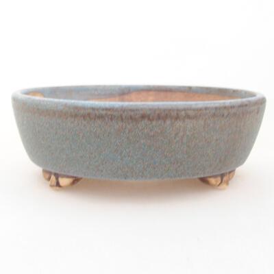 Ceramiczna miska bonsai 12 x 9,5 x 3,5 cm, kolor niebieski - 1