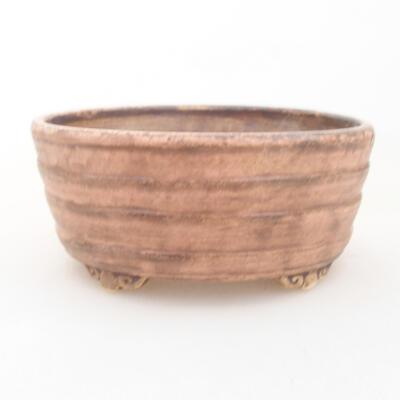 Ceramiczna miska bonsai 10,5 x 9 x 4,5 cm, kolor różowy - 1