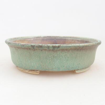 Ceramiczna miska bonsai 12 x 11 x 3 cm, kolor zielony - 1