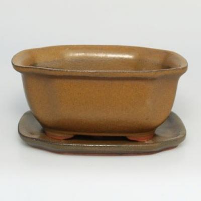 Taca miska Bonsai H32 - miska 12,5 x 10,5 x 6 cm, taca 12,5 x 10,5 x 1 cm - 1