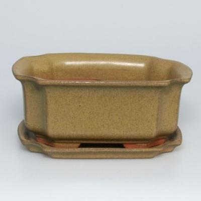 Miska Bonsai + taca H01 - taca 12 x 9 x 5 cm, taca 11,5 x 8,5 x 1 cm - 1