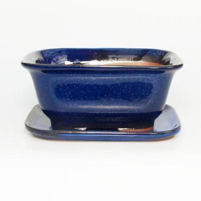 Miska Bonsai + taca H37 - miska 14 x 12 x 7 cm, taca 14 x 13 x 1 cm - 1