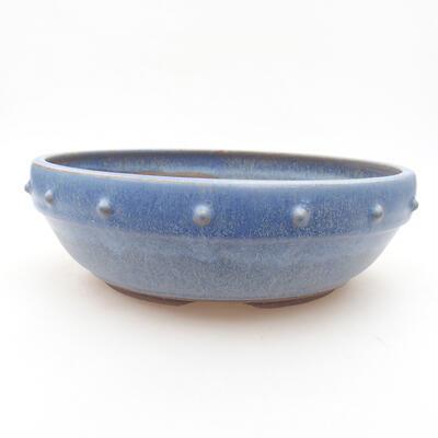 Ceramiczna miska bonsai 22 x 22 x 7 cm, kolor niebieski - 1