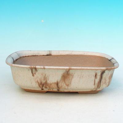 Ceramiczna miska bonsai H 02 - 19 x 13,5 x 5 cm - 1