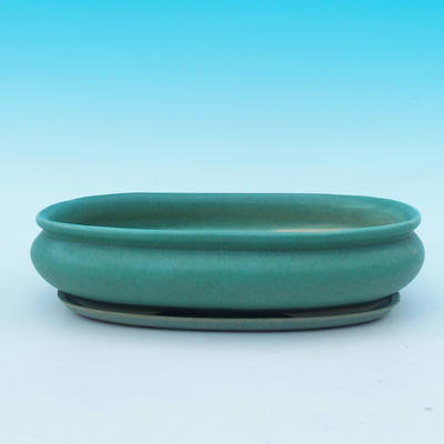 Taca miska Bonsai H15 - miska 26,5 x 17 x 6 cm, taca 24,5 x 15 x 1,5 cm - 1
