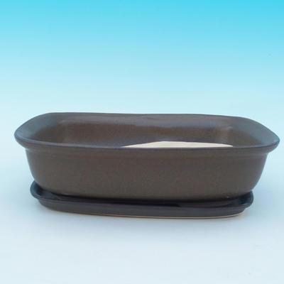 Taca miska Bonsai H10 - miska 37 x 27 x 10 cm, taca 34 x 23 x 2 cm - 1