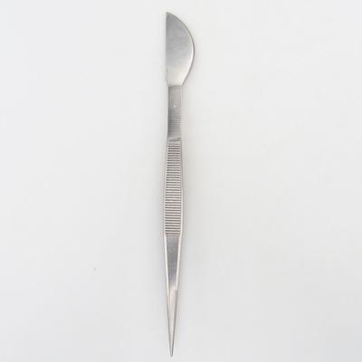 Szpatułka i pinceta 22 cm - stal nierdzewna - 1
