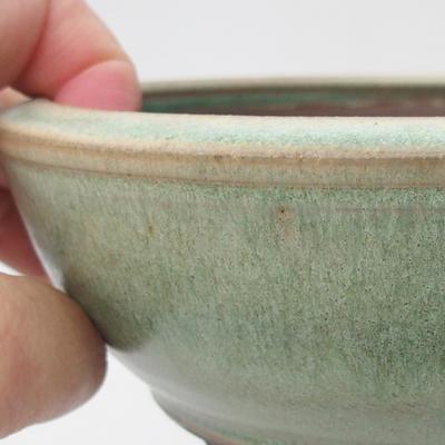 Ceramiczna miska bonsai 16 x 16 x 5,5 cm, kolor zielony - 2