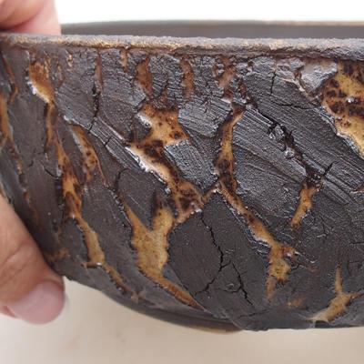 Ceramiczna miska bonsai 19 x 19 x 7 cm, kolor spękany - 2