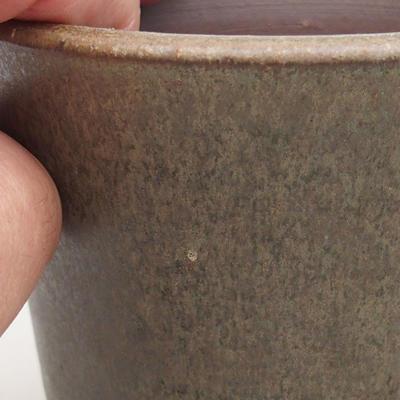 Ceramiczna miska bonsai 9,5 x 9,5 x 9 cm, kolor zielony - 2