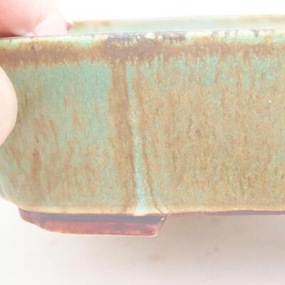 Ceramiczna miska bonsai 17,5 x 14,5 x 5 cm, kolor zielony - 2