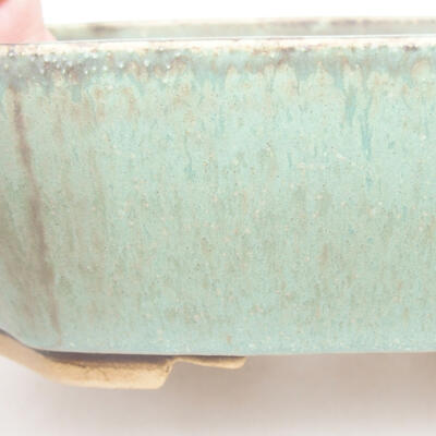 Ceramiczna miska bonsai 16,5 x 14 x 5,5 cm, kolor zielony - 2