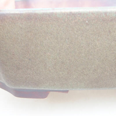 Ceramiczna miska bonsai 16,5 x 14 x 5,5 cm, kolor szary - 2