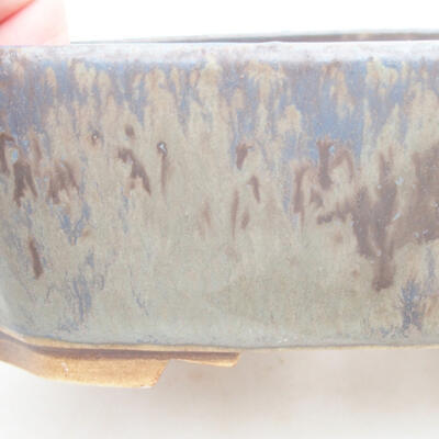 Ceramiczna miska bonsai 16,5 x 14 x 5,5 cm, kolor niebieski - 2