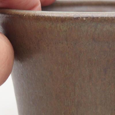 Ceramiczna miska bonsai 11 x 11 x 9 cm, kolor brązowy - 2