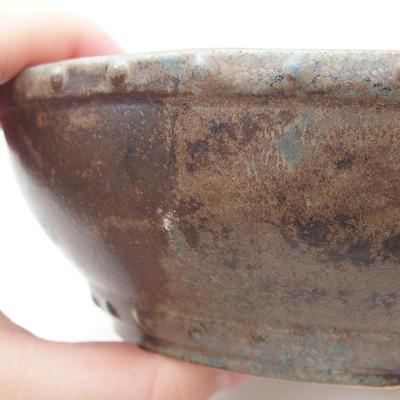 Ceramiczna miska bonsai 17,5 x 17,5 x 5,5 cm, kolor zielono-brązowy - 2